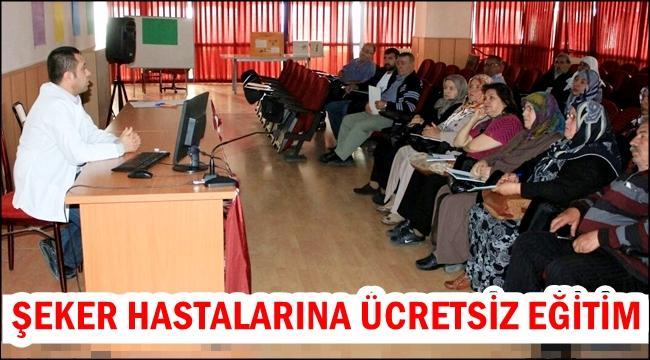 AKSARAY'DA ŞEKER HASTALARINA ÜCRETSİZ EĞİTİM...
