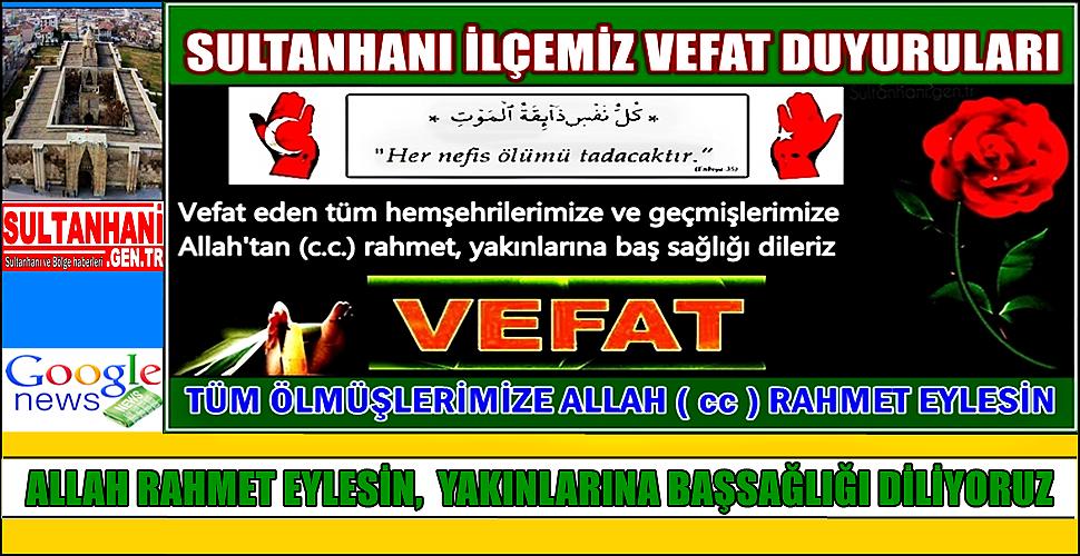 SEYİT OĞLU AVCI ÖZTÜRK VEFAT ETTİ 20.10.2017 CUMA
