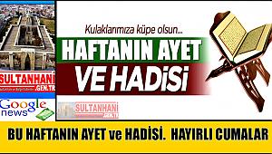 HAFTANIN AYET VE HADİSİ 3 KASIM 2017 CUMA
