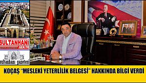"""KOÇAŞ """"MESLEKİ YETERLİLİK BELGESİ"""" HAKKINDA BİLGİ VERDİ"""