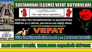 HACI MEHMET EŞİ AYŞE ALTINSOY VEFAT ETTİ 24.02.2018 CUMARTESİ