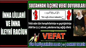 MEHMET EŞİ HATİCE SOLAK VEFAT ETTİ 08.03.2018 PERŞEMBE
