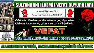 ŞAHİN EŞİ RAZİYE KARA VEFAT ETTİ 02.03.2018 CUMA