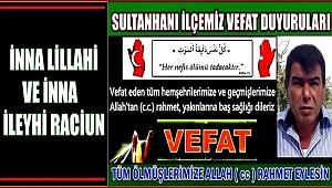 MEHMET OĞLU BAYRAM MUTLU VEFAT ETTİ 24.04.2018 SALI