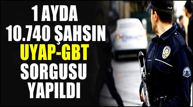 AKSARAY'DA 1 AYDA 10.740 ŞAHSIN UYAP-GBT SORGUSU YAPILDI