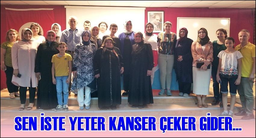 SEN İSTE YETER KANSER ÇEKER GİDER...