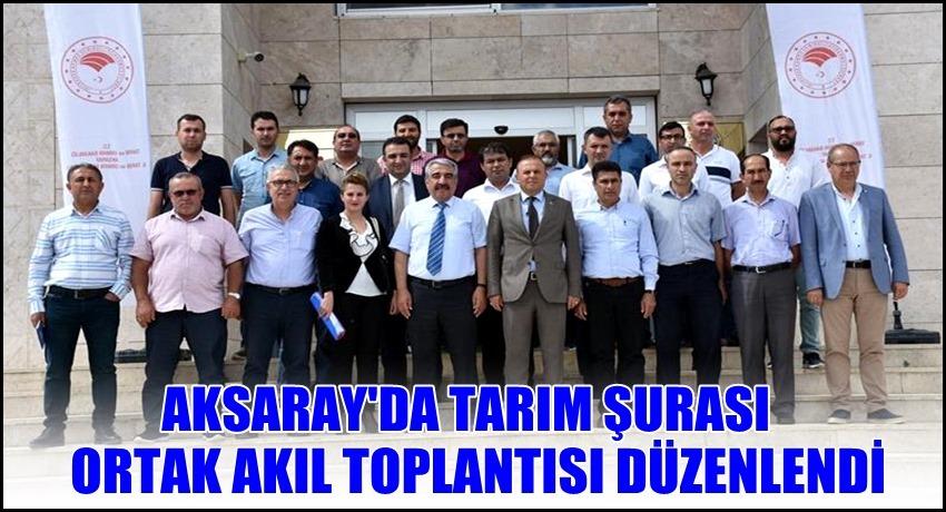 AKSARAY'DA TARIM ŞURASI ORTAK AKIL TOPLANTISI DÜZENLENDİ