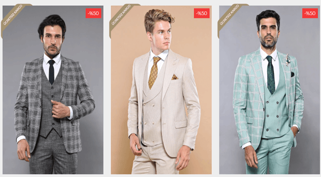 Binlerce Çeşit Takım Elbise Modelleri Wessi'de