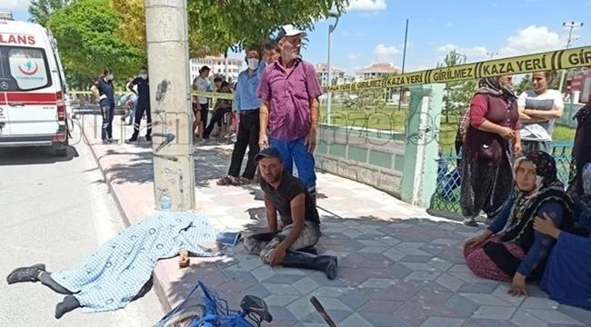 SULTANHANINDA YİNE MOTOSİKLET KAZASI 1 ÖLÜ