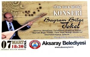 Aksaray Belediyesi Türk Halk Müziği Konseri Düzenliyor