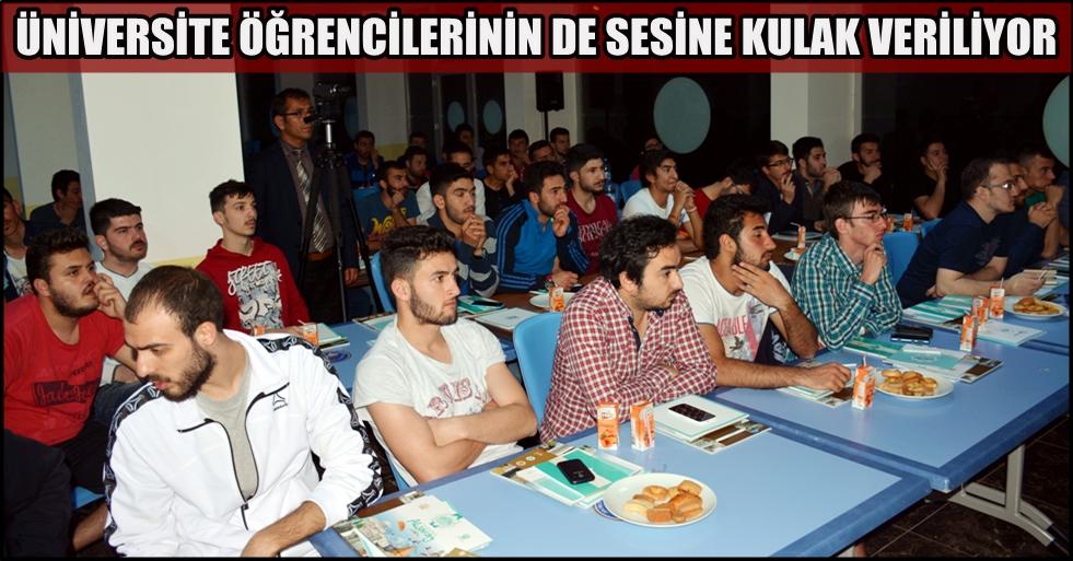 Aksaray belediyesi, üniversite öğrencilerinin de sesine kulak veriyor