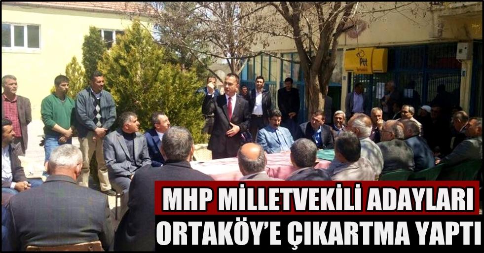 Mhp milletvekili adayları ortaköy'e çıkartma yaptı